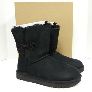 UGG MARIKO BAILEY BLACK CLASSIC SHORT BOOTS NEW!